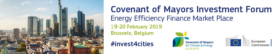 Covenant of Mayors Investment Forum 2019_Banner